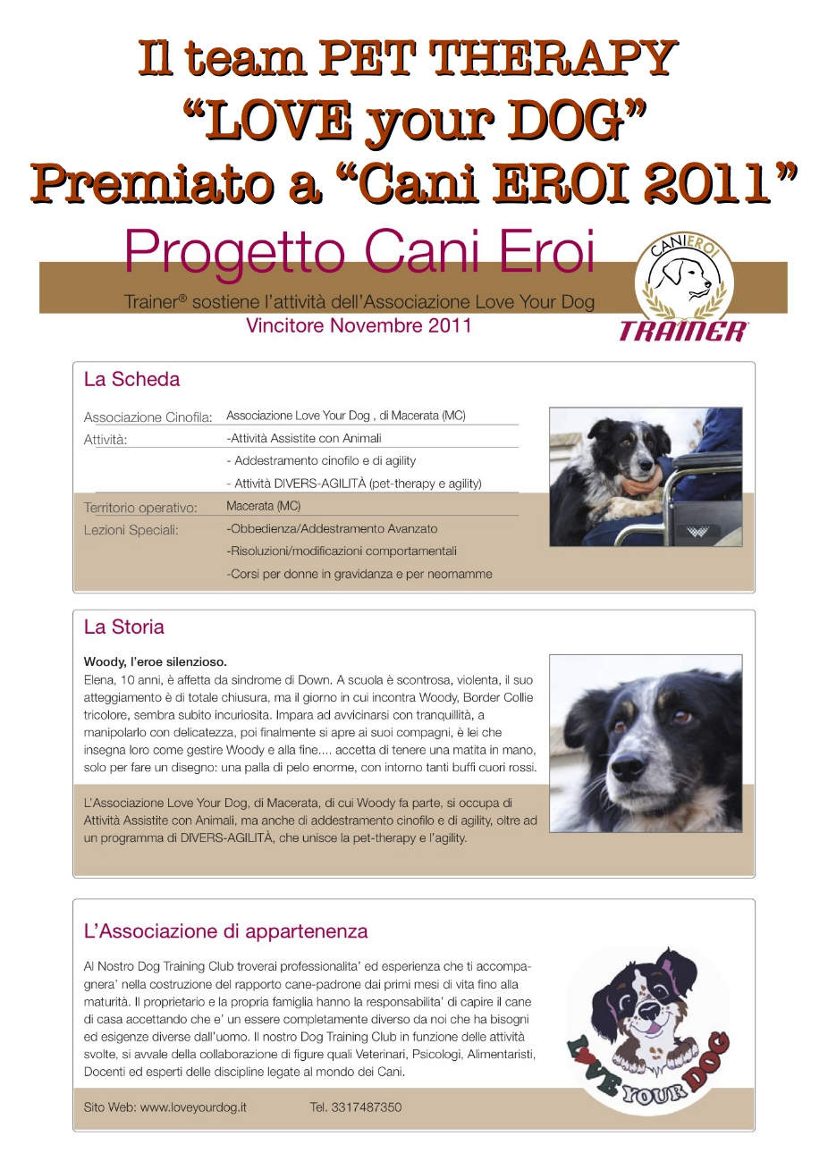 Certificazioni Love your dog training club