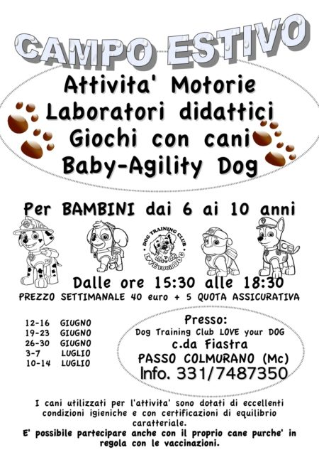 eventi love your dog campo
